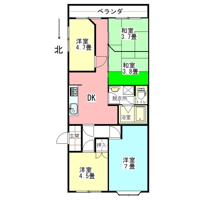 横浜ハイタウンの間取図
