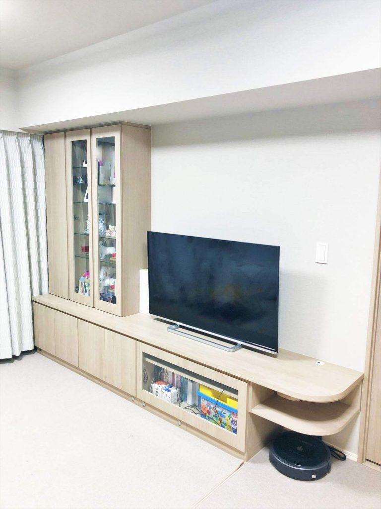 グローリオ田町の造り付家具(テレビボード)