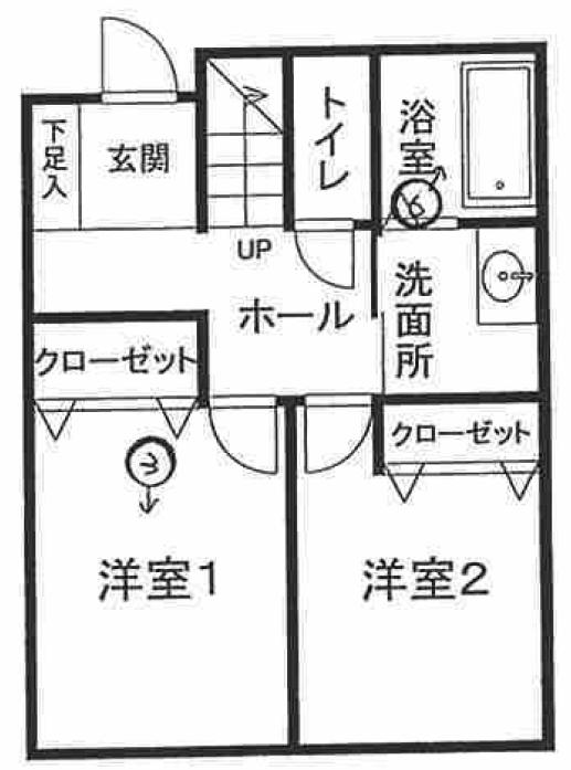 川崎市中原区木月大町戸建の間取図