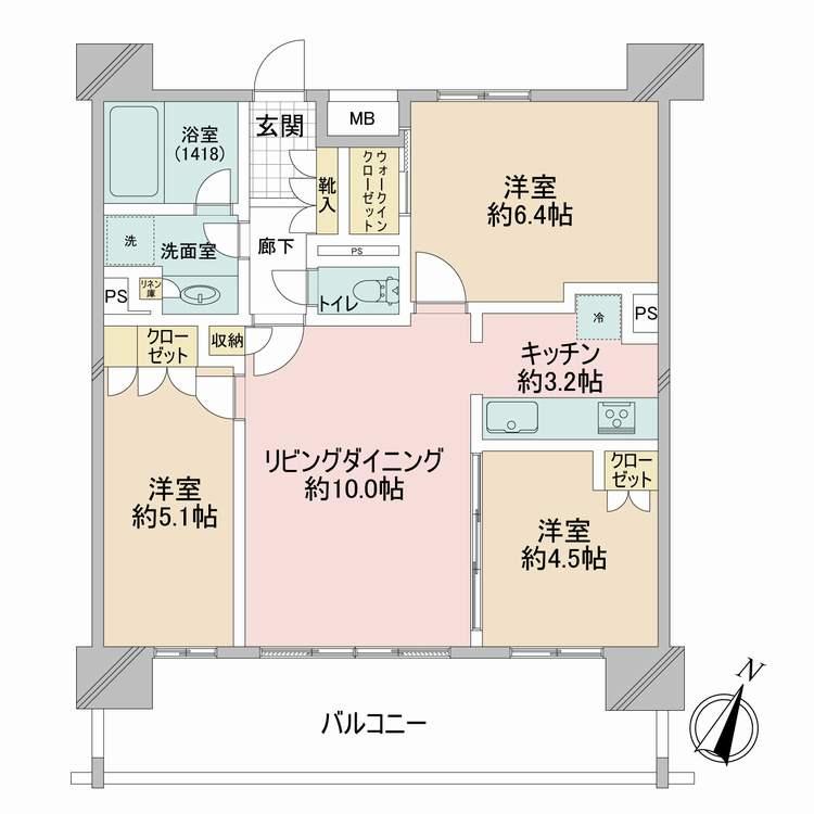 間取図(グローリオ田町)