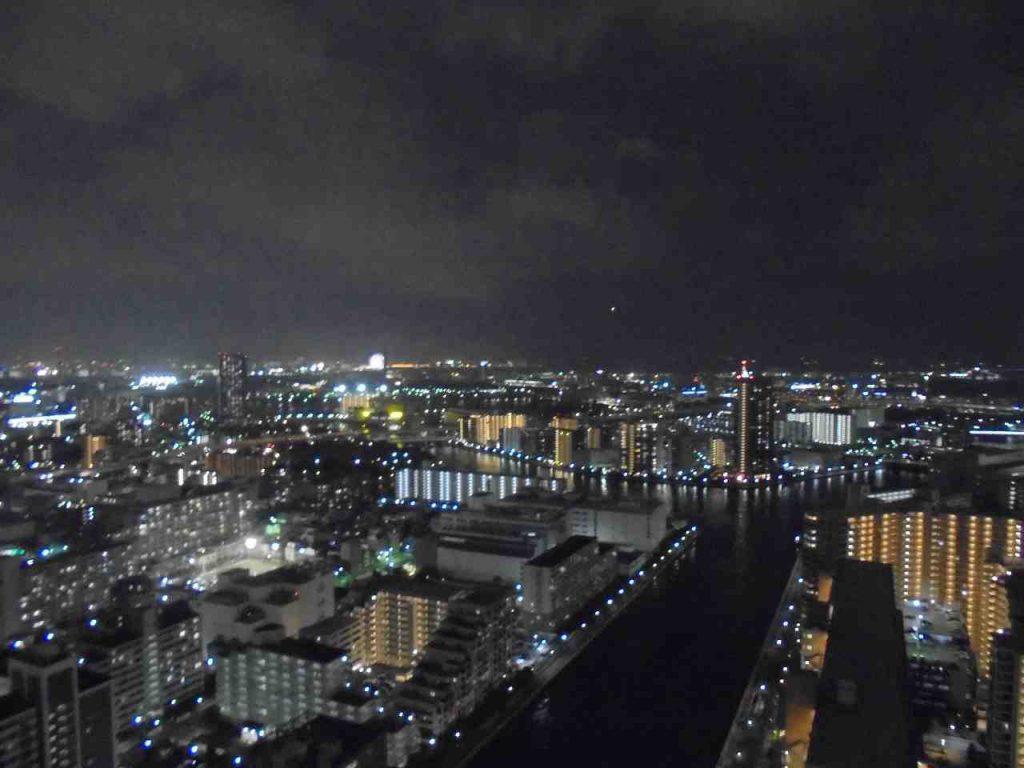 シティタワーズ豊洲ザ・ツイン サウスタワーのエントランスの眺望(夜景)