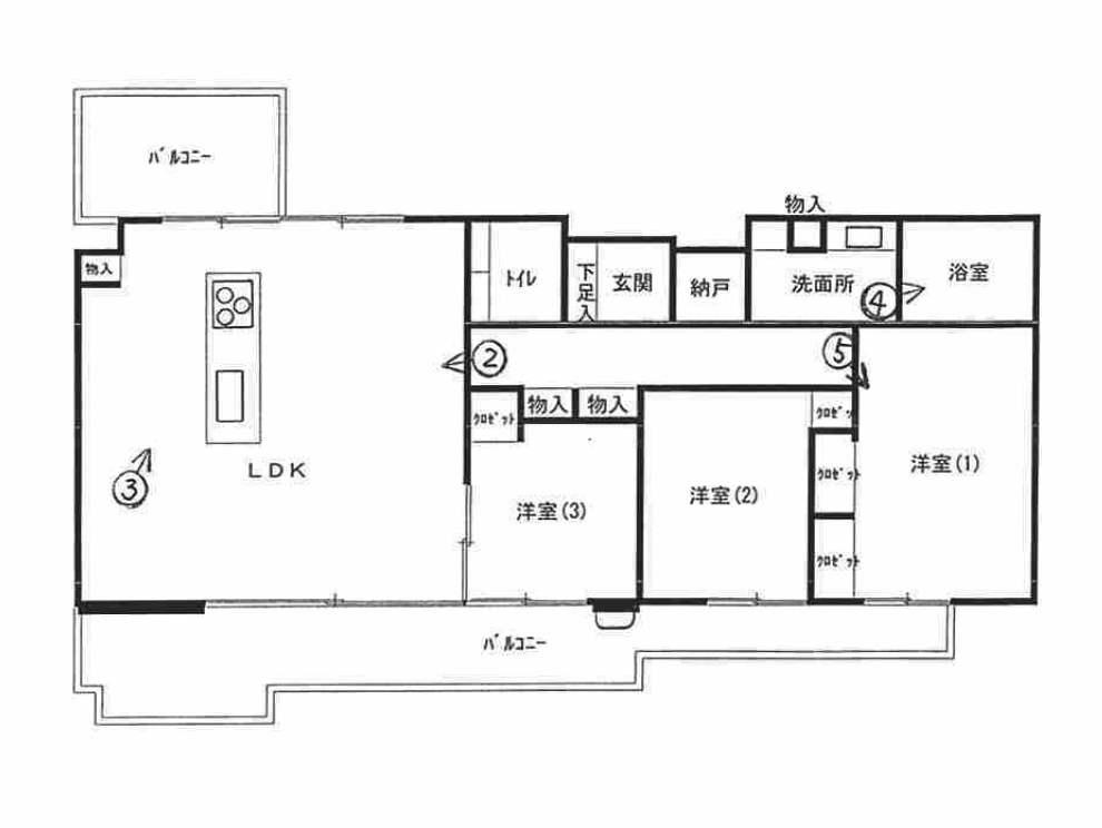 パークホームズ横濱松ヶ丘の間取図