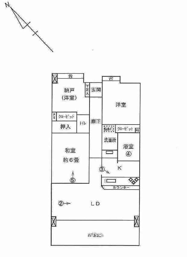 ライオンズプラザ茅ヶ崎駅前の間取図