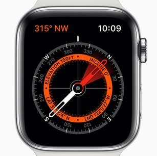 Apple Watch のコンパス