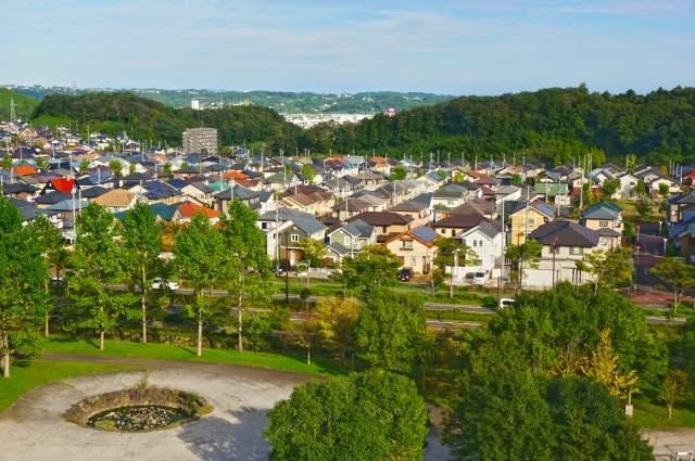 郊外の住宅地