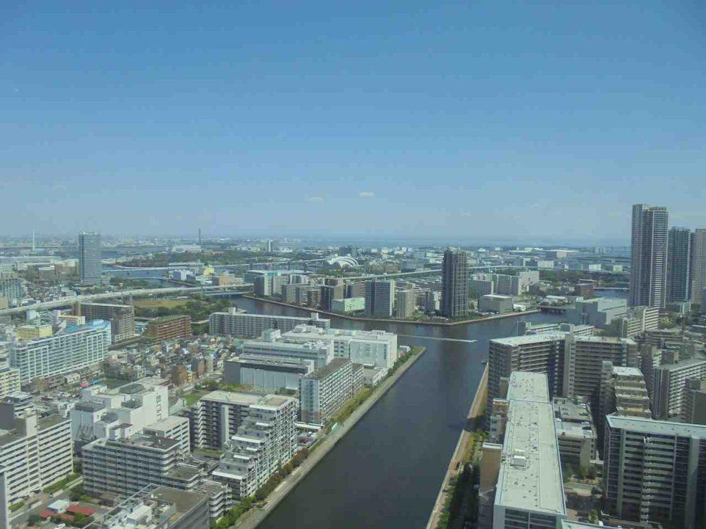 シティタワーズ豊洲ザ・ツイン サウスタワーのエントランスの眺望