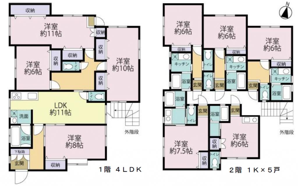 賃貸併用住宅の間取図