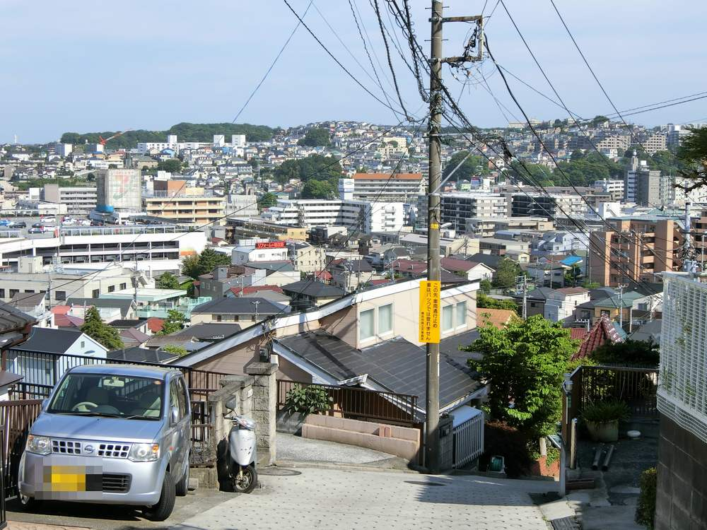 横浜市傾斜地