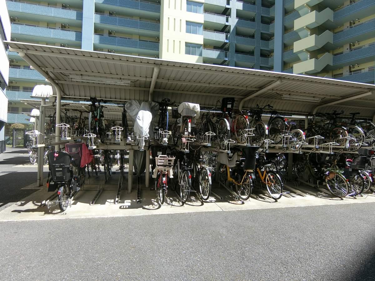 クレストフォルム東京リバーコーストの駐輪場