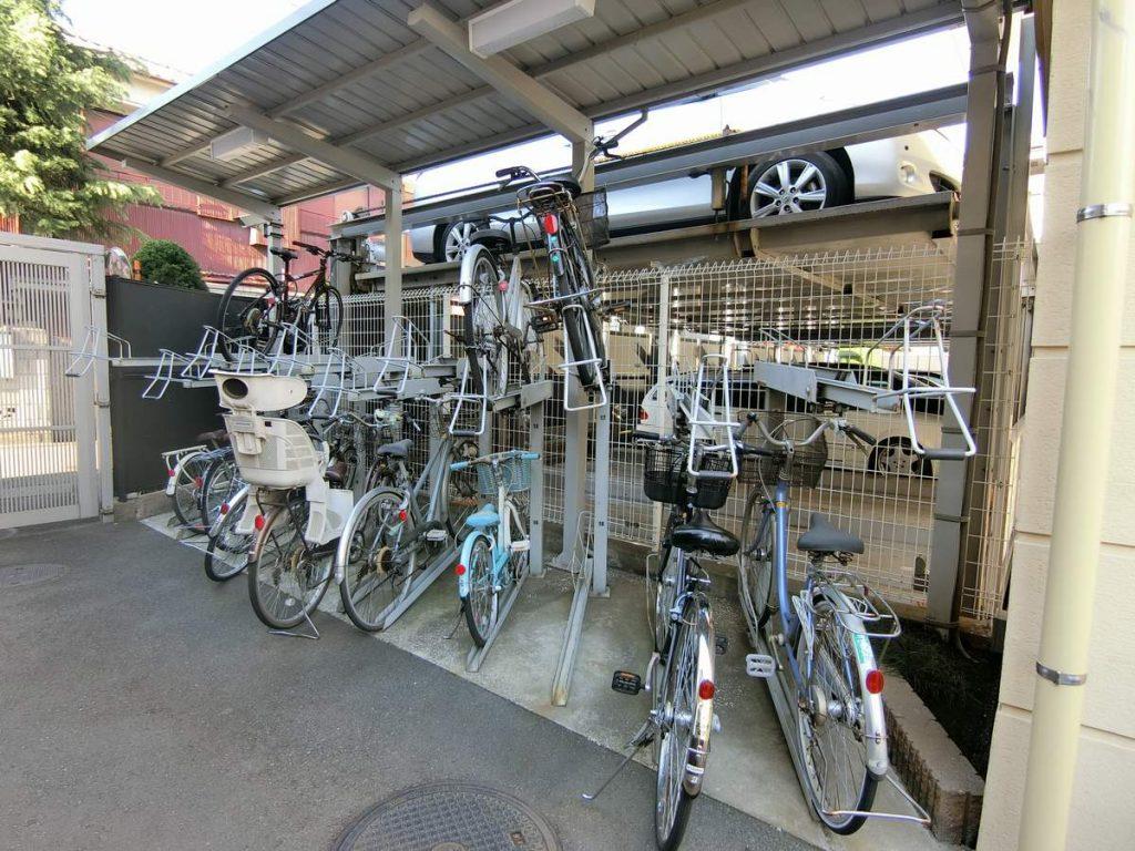 グランシティ新蒲田の駐輪場
