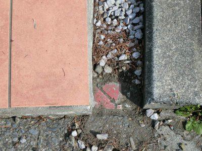 境界標の発掘作業