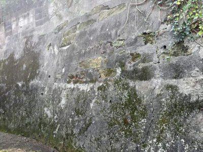 古い擁壁の調査と崖条例