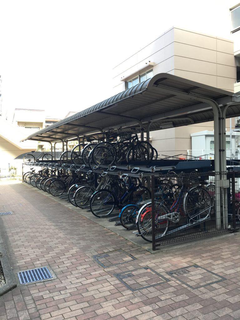 シャレール新蒲田の駐輪場
