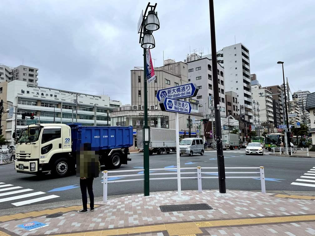 江東区の交差点