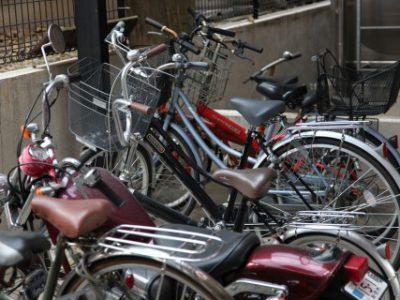 URのバイク置場