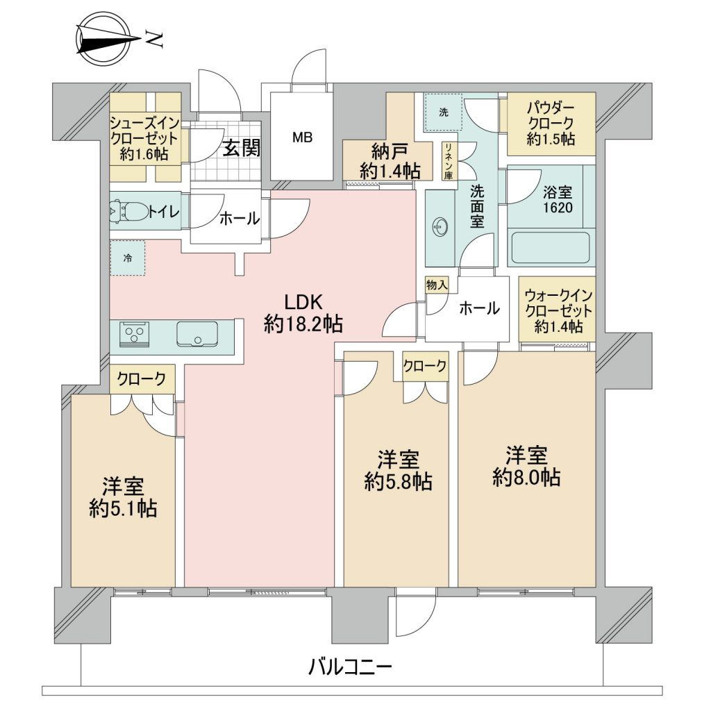 パークシティ武蔵小杉ステーションフォレストタワー26階間取図