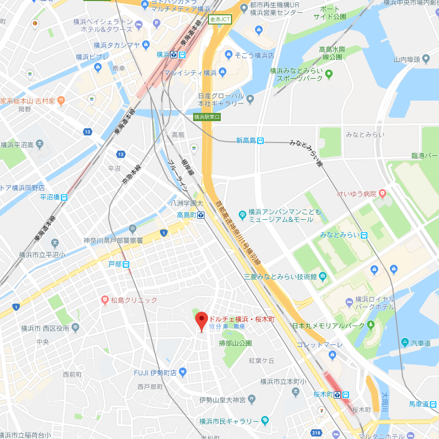 ドルチェ横浜桜木町の地図