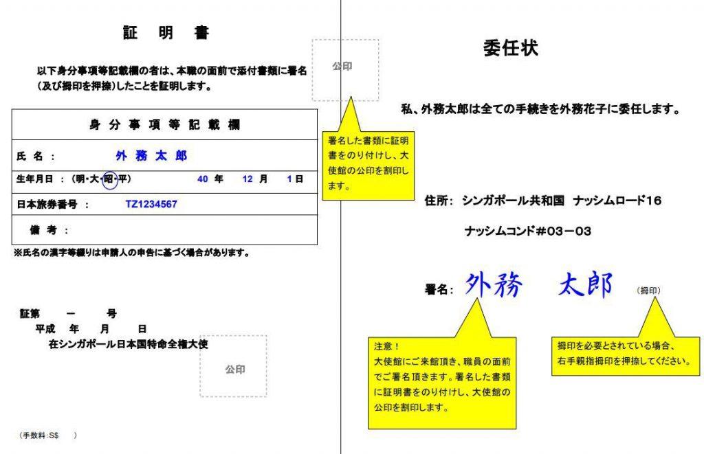 サイン証明書(割印型)