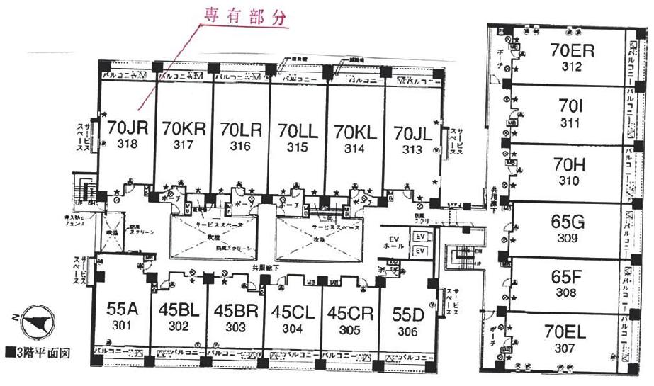 パークホームズ横濱山下町の配置図