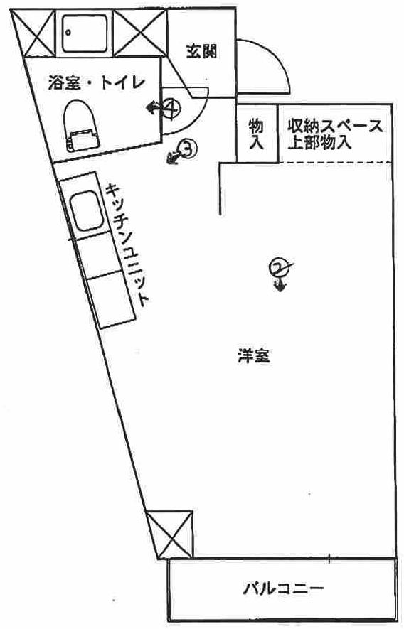 シャトレー吉野町の間取図